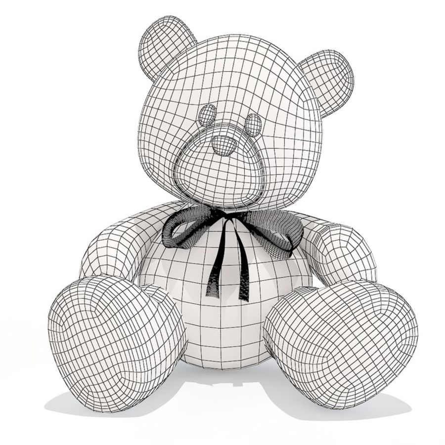 Teddy bear royalty-free 3d model - Preview no. 8