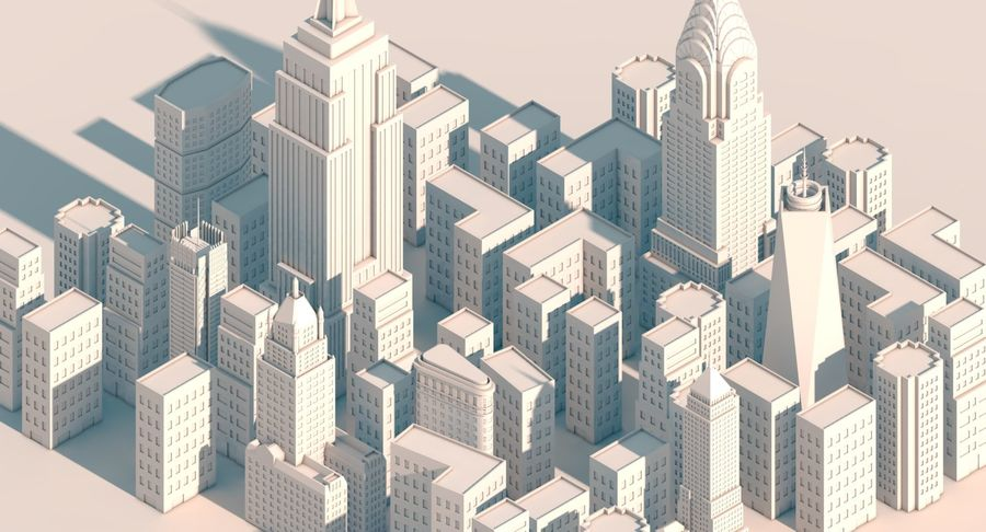 New York City pack royalty-free 3d model - Preview no. 1
