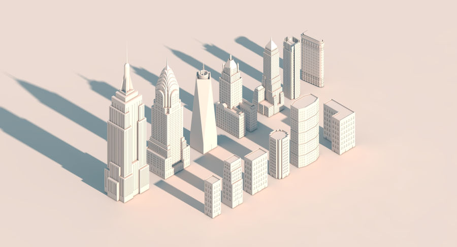 New York City pack royalty-free 3d model - Preview no. 3