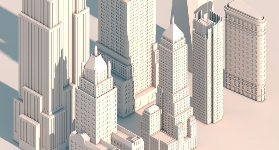 Pacchetto di New York City royalty-free 3d model - Preview no. 5