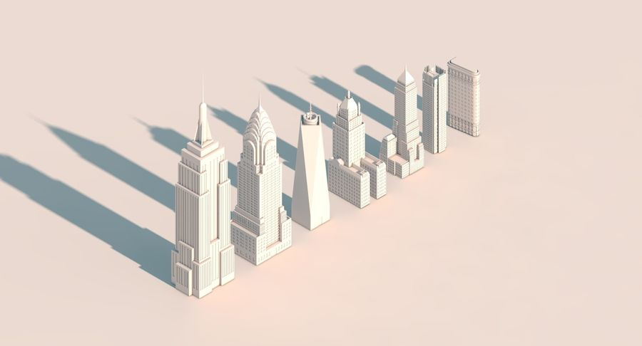 New York City pack royalty-free 3d model - Preview no. 2