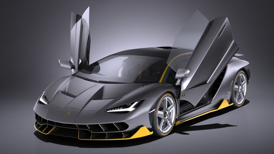 Lamborghini Centenario Lp 770 4 2017 Open Doors 3d Model 149 Obj