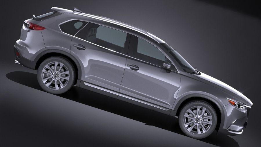 Mazda CX-9 2017 royalty-free 3d model - Preview no. 7
