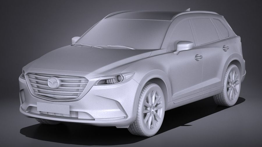 Mazda CX-9 2017 royalty-free 3d model - Preview no. 9