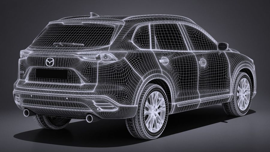 Mazda CX-9 2017 royalty-free 3d model - Preview no. 14