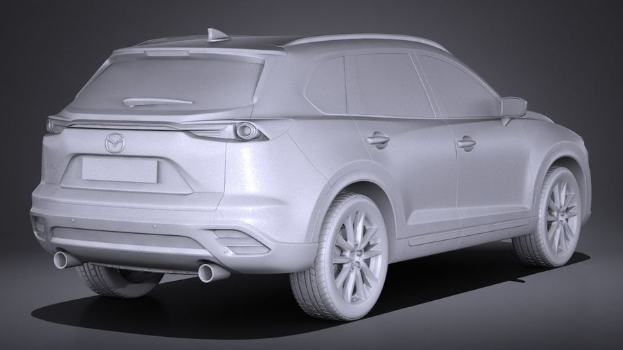Mazda CX-9 2017 royalty-free 3d model - Preview no. 12