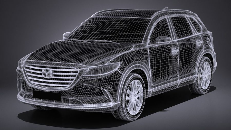 Mazda CX-9 2017 royalty-free 3d model - Preview no. 13