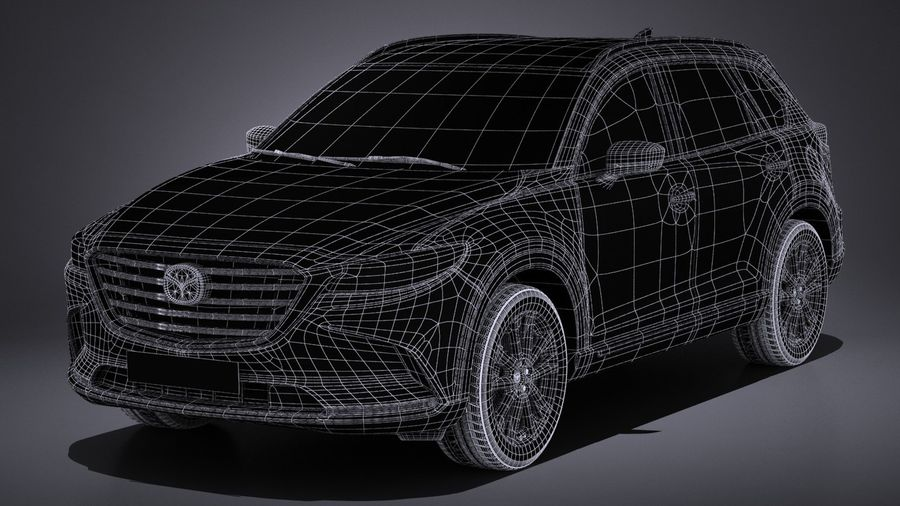 Mazda CX-9 2017 royalty-free 3d model - Preview no. 15