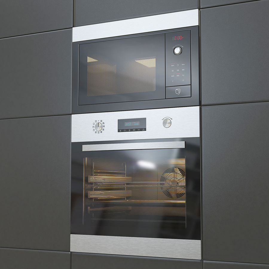 Modern Microwave And Oven 3d Model 18 Unknown Obj