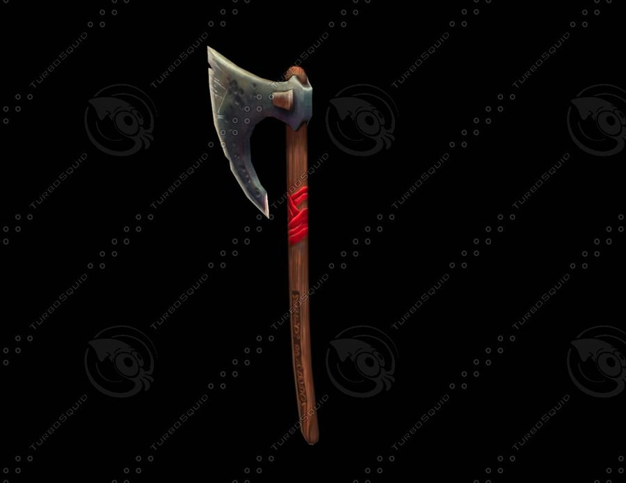 War Axe royalty-free 3d model - Preview no. 2