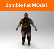 zombie male low poly 3d model