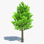 Cartoon Tree Small 3d model