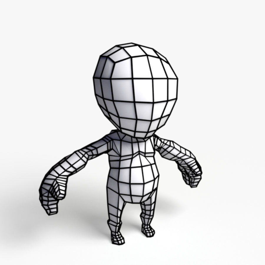 Toon Demon Character royalty-free 3d model - Preview no. 3