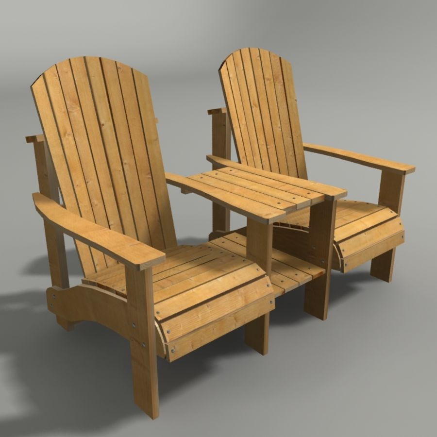 double garden chair 3d model