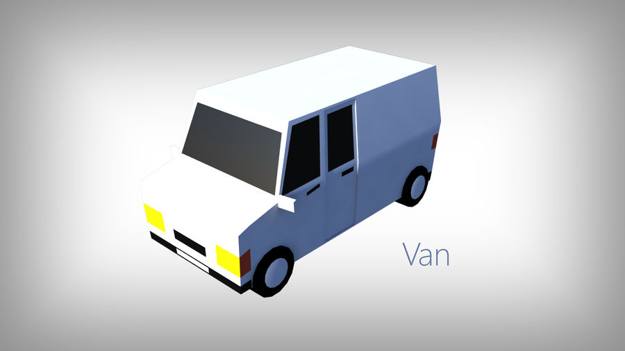 Low Poly Toon type Cars Pack with 10+Vehicles royalty-free 3d model - Preview no. 12