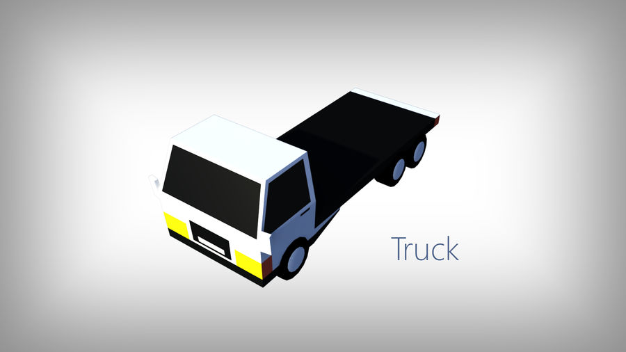 Pack de carros tipo Low Poly Toon com 10 + Veículos royalty-free 3d model - Preview no. 6