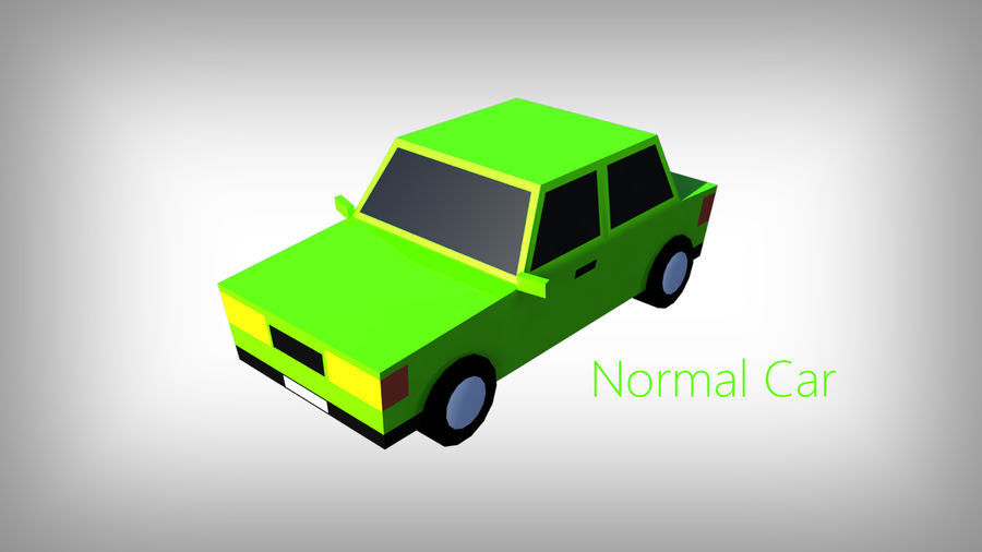 Pack de carros tipo Low Poly Toon com 10 + Veículos royalty-free 3d model - Preview no. 5