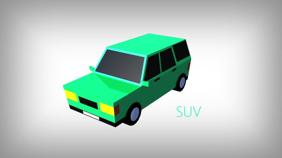 Pack de carros tipo Low Poly Toon com 10 + Veículos royalty-free 3d model - Preview no. 7
