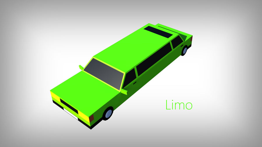 Pack de carros tipo Low Poly Toon com 10 + Veículos royalty-free 3d model - Preview no. 10