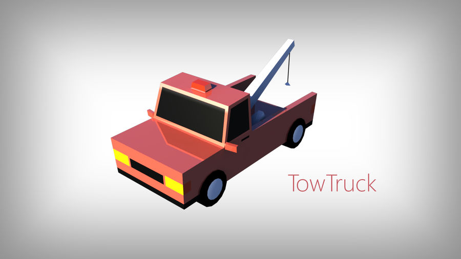 Pack de carros tipo Low Poly Toon com 10 + Veículos royalty-free 3d model - Preview no. 4