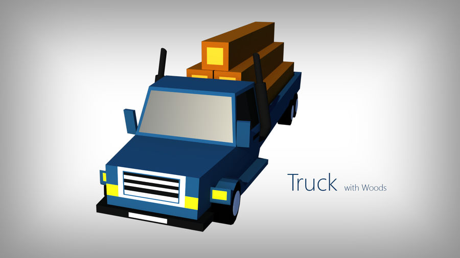 Pack de carros tipo Low Poly Toon com 10 + Veículos royalty-free 3d model - Preview no. 9