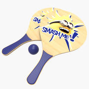Beach Paddles Rackets 3d model