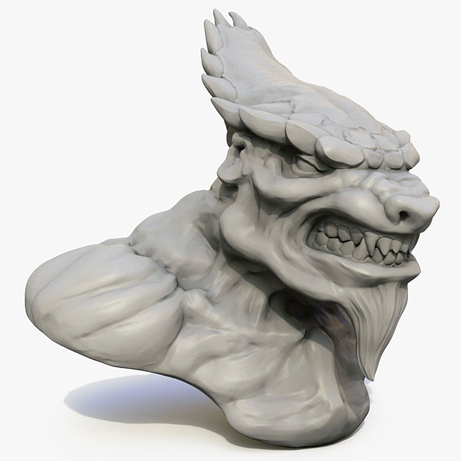 Werewolf mutant 01 royalty-free 3d model - Preview no. 1