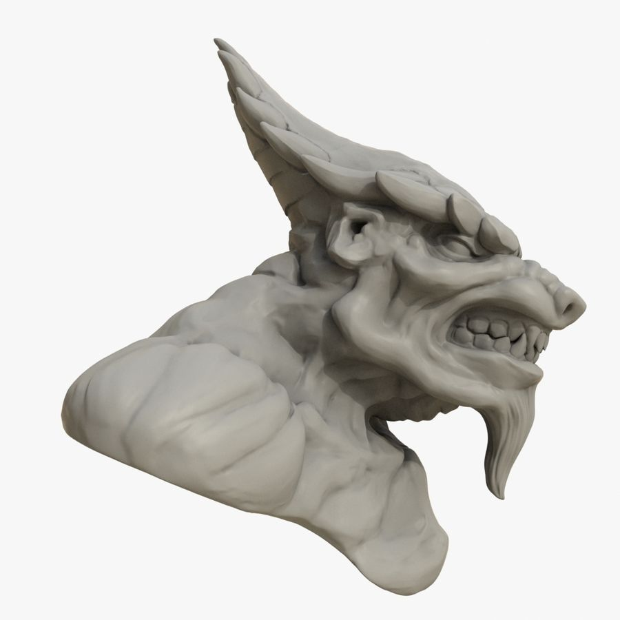 Werewolf mutant 01 royalty-free 3d model - Preview no. 3