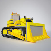 Low Poly Bulldozer 3d model