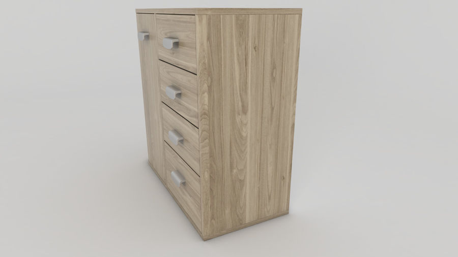 Dresser royalty-free 3d model - Preview no. 3