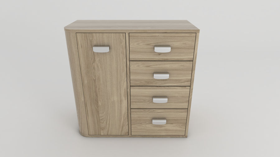 Dresser royalty-free 3d model - Preview no. 2