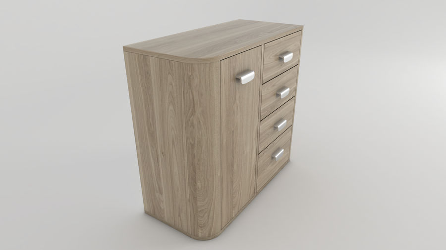 Dresser royalty-free 3d model - Preview no. 4