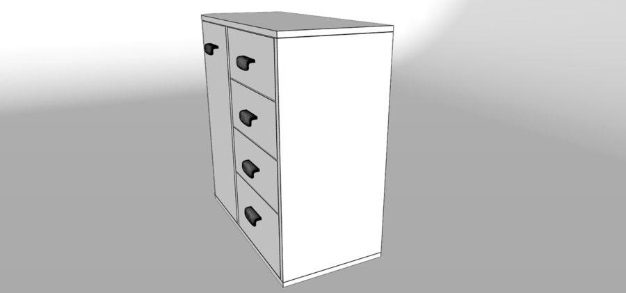 Dresser royalty-free 3d model - Preview no. 7