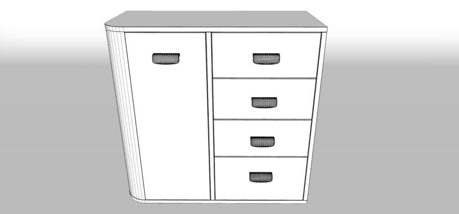 Dresser royalty-free 3d model - Preview no. 5