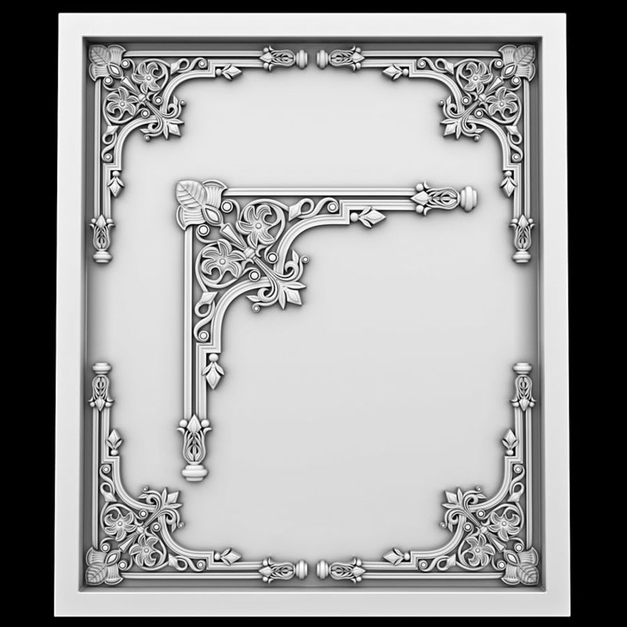 Corner element 28 royalty-free 3d model - Preview no. 1