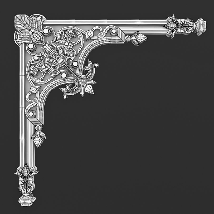 Corner element 28 royalty-free 3d model - Preview no. 4