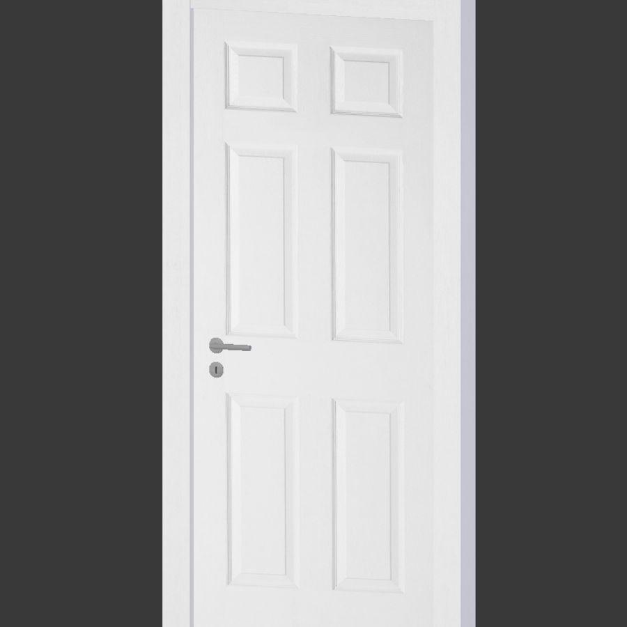 белая панель двери 3d модель 6 Unknown Obj Fbx Dae