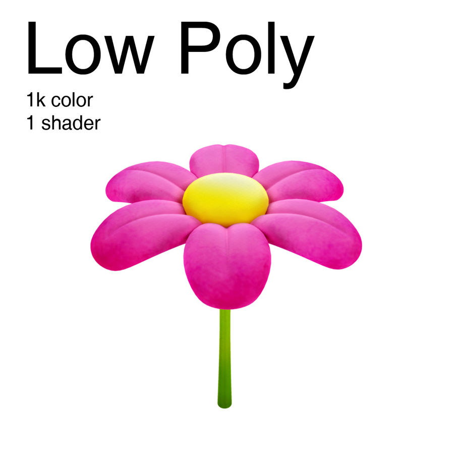 Flower Pink Cartoon 3d Model 9 Oth Obj Free3d