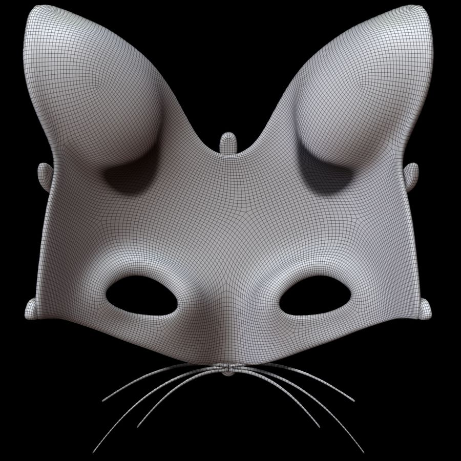 Cat mask royalty-free 3d model - Preview no. 11