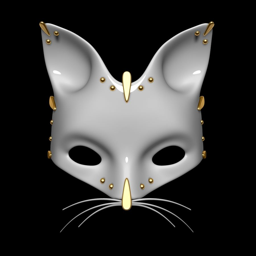 Cat mask royalty-free 3d model - Preview no. 1