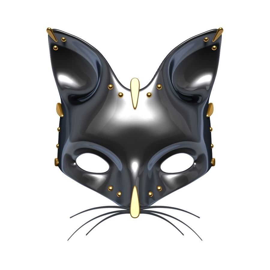Cat mask royalty-free 3d model - Preview no. 7