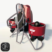 Martin jetpack low poly 3d model