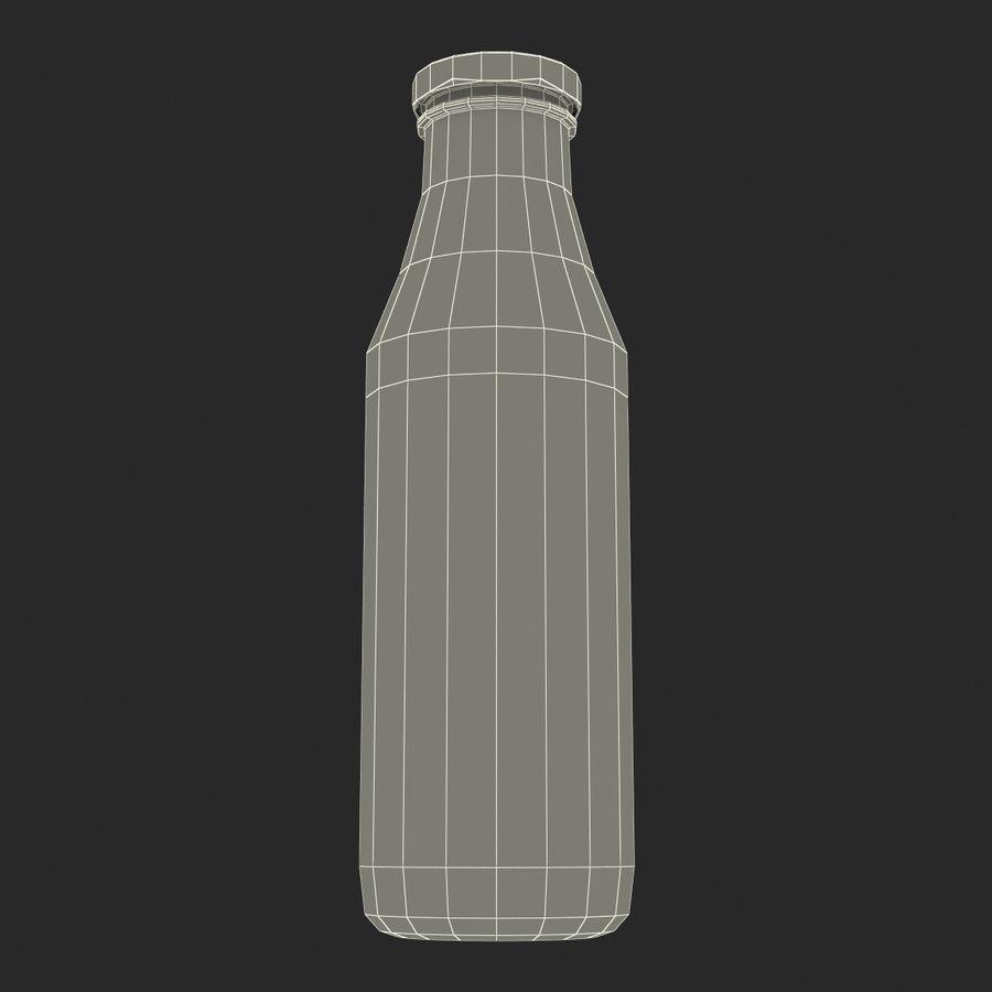 Milk Half Gallon Glass Bottle royalty-free 3d model - Preview no. 25