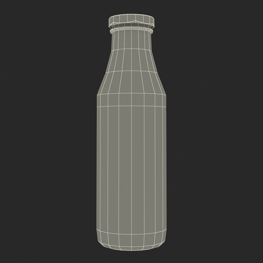 Milk Half Gallon Glass Bottle royalty-free 3d model - Preview no. 23