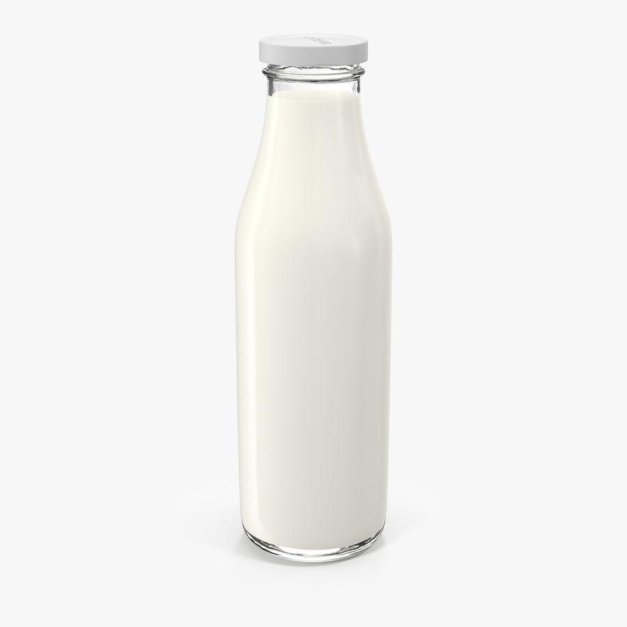 Milk Half Gallon Glass Bottle royalty-free 3d model - Preview no. 1