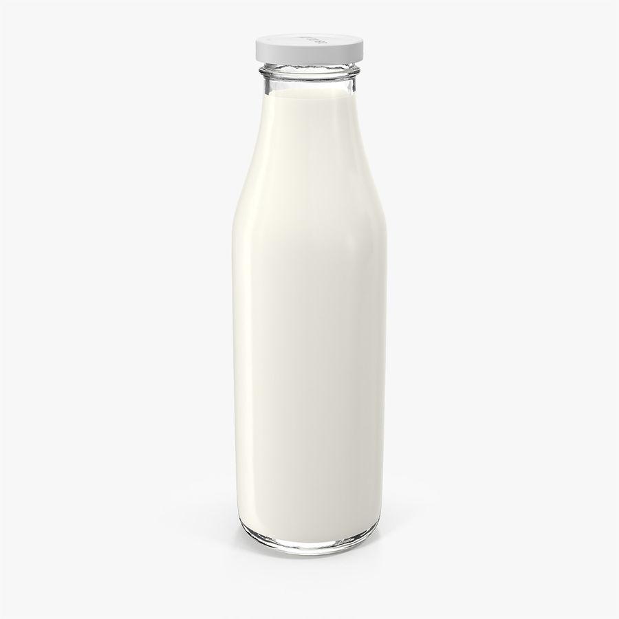 Milk Half Gallon Glass Bottle royalty-free 3d model - Preview no. 2