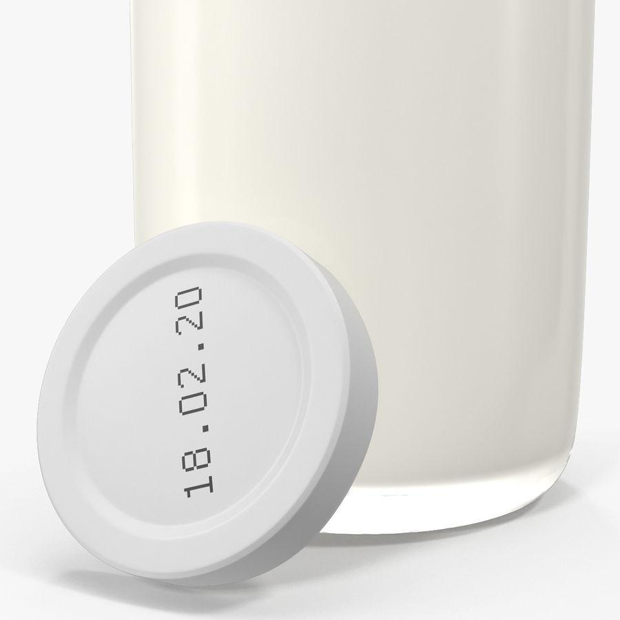 Milk Half Gallon Glass Bottle royalty-free 3d model - Preview no. 16
