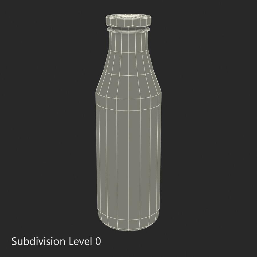 Milk Half Gallon Glass Bottle royalty-free 3d model - Preview no. 18