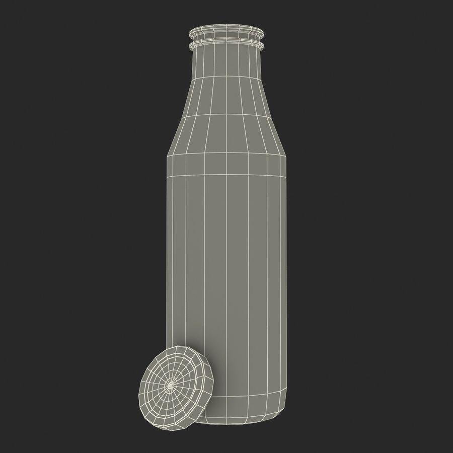 Milk Half Gallon Glass Bottle royalty-free 3d model - Preview no. 27