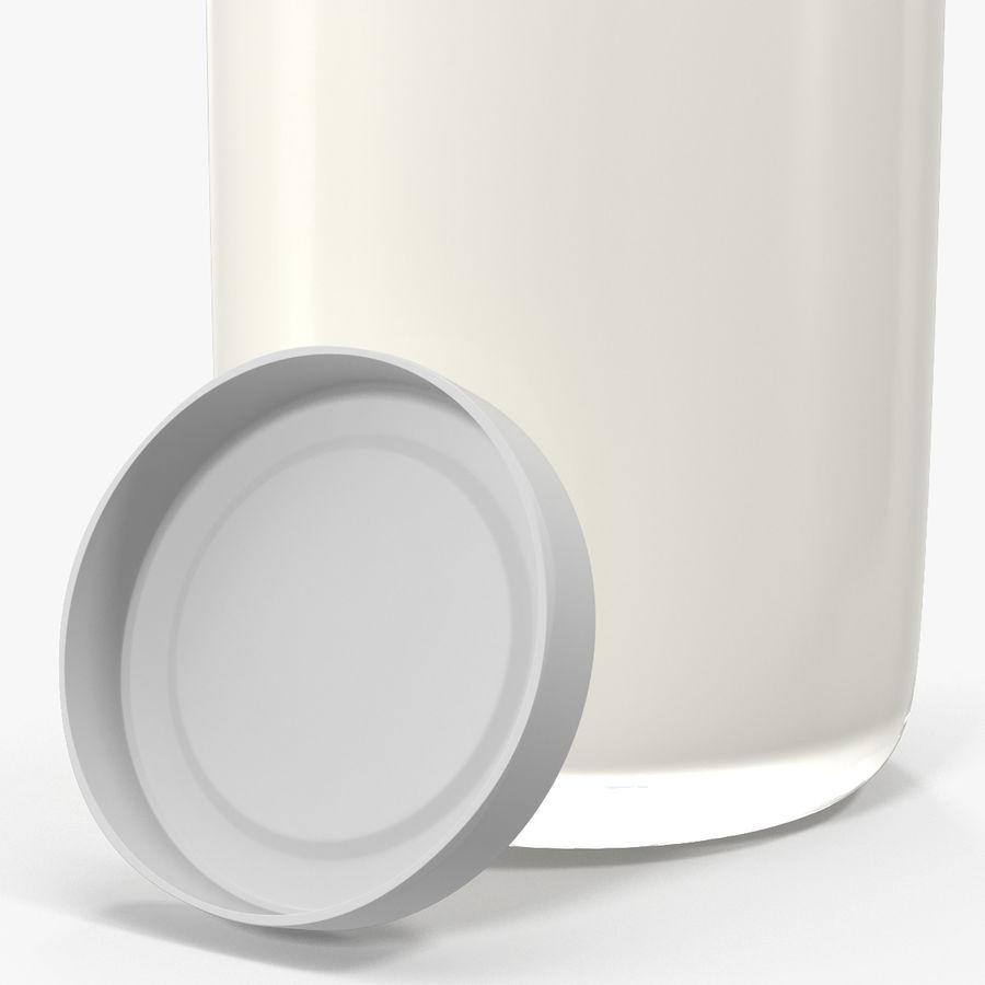 Milk Half Gallon Glass Bottle royalty-free 3d model - Preview no. 17